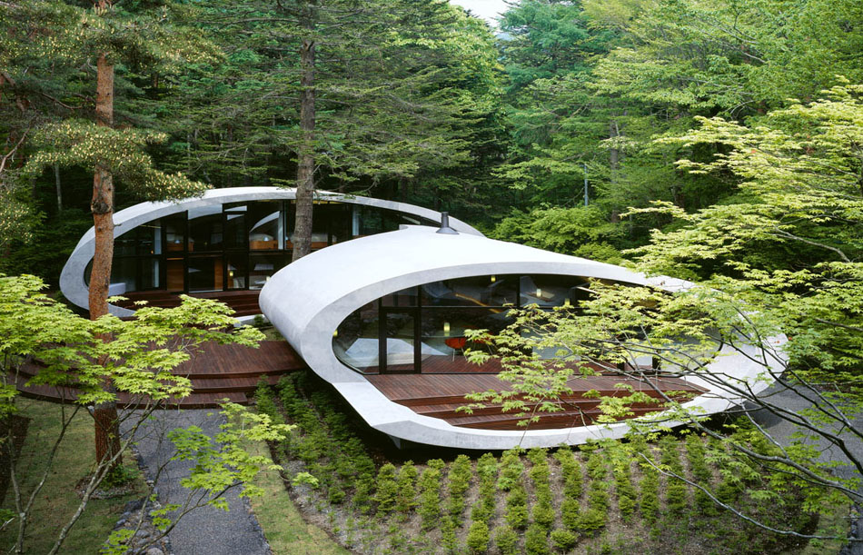 shell house villa in japan by artechnic